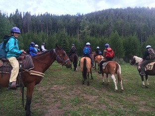 Montana Horse Riding at Camp