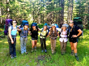 Washington girls camp backpackers