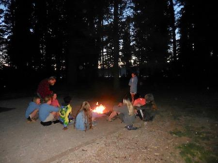 Camping in Tents at Girls Camp