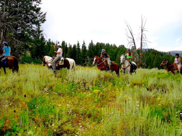 Pristine Mountain Horse Rides at Camp