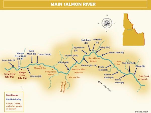 Rafting Main Salmon River Trip