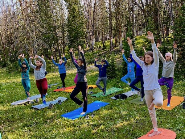Yoga in Backcountry at Camp