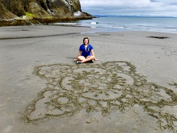 Summer camp beach art