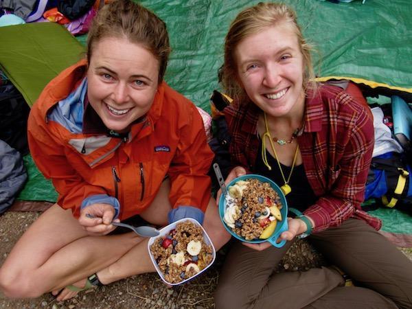 Summer camp guides breakfast