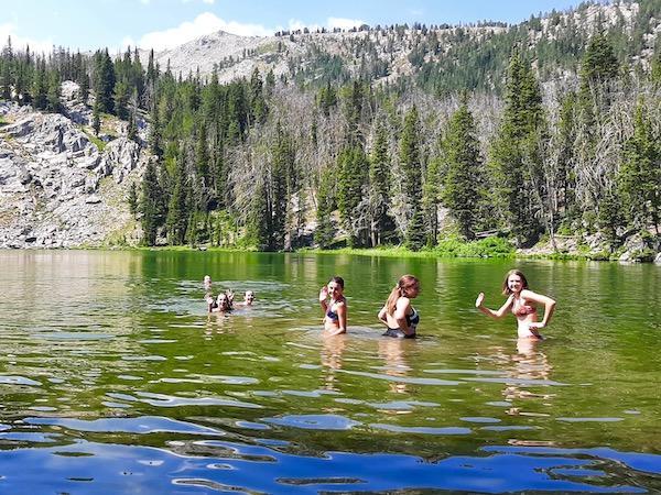 Alpine Lake Swimming