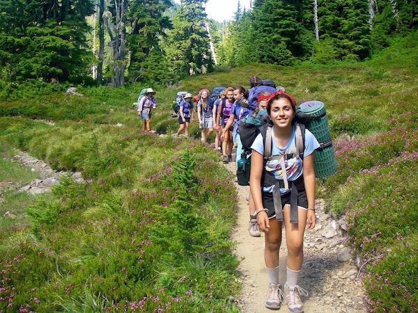 Hiking Girls Camp in Washington