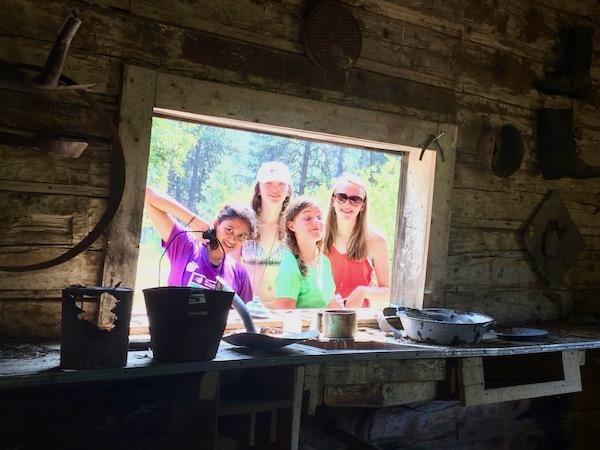 Girls camp history tour