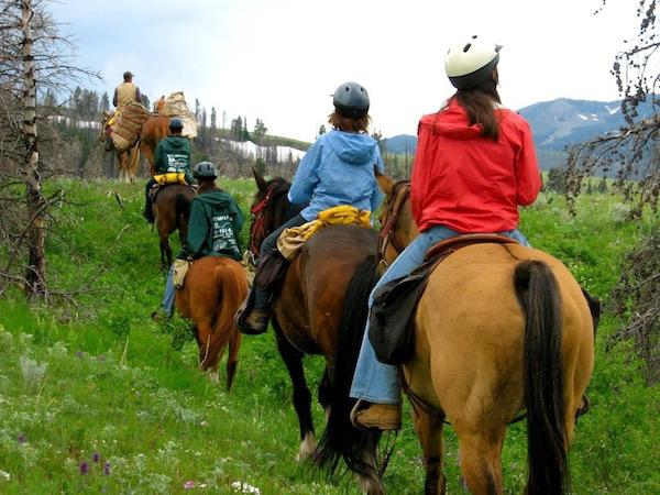 Western Trail Riding at Girls Camp