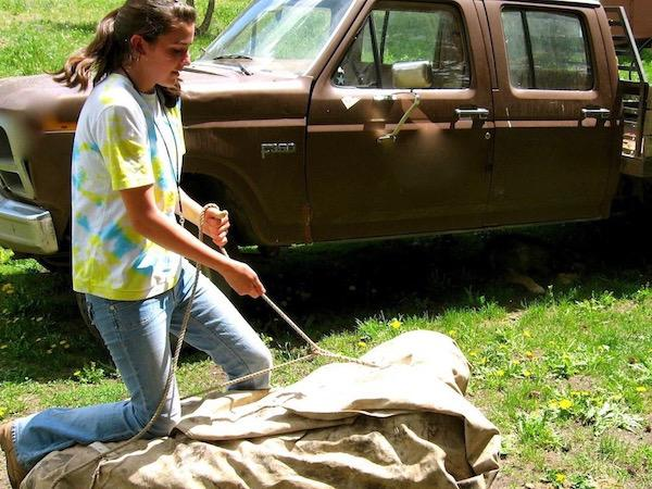 Learn horse packing skills at summer camp