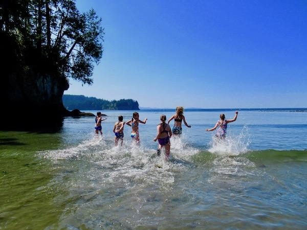 Pacific coast summer camp swim
