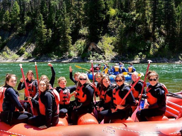 Snake River Wyoming Teen Camp Rafting Day