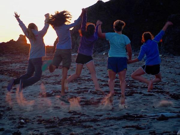Girls beach camp