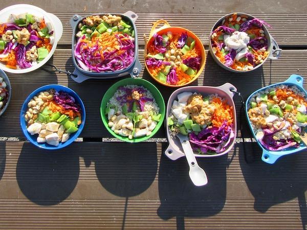 Girls camp healthy dinner
