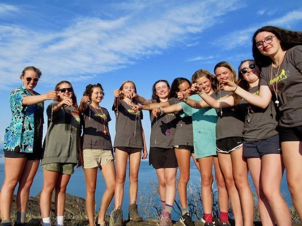 Girls camp outdoor skills