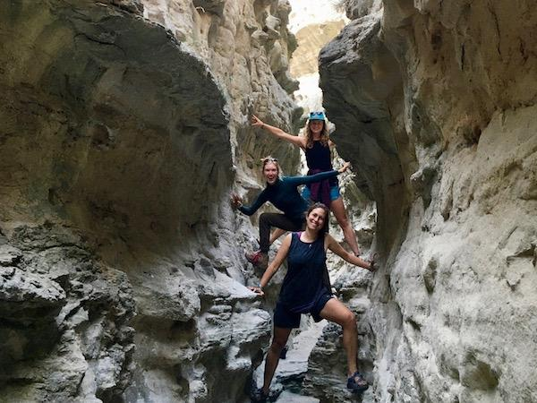 Slot canyon at summer camp