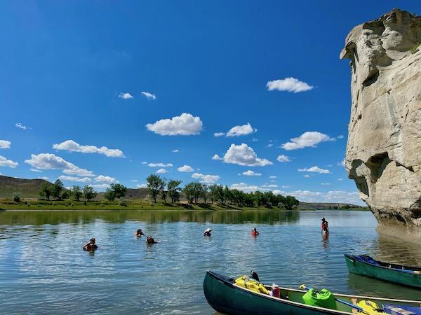 Swimming Missouri River Summer