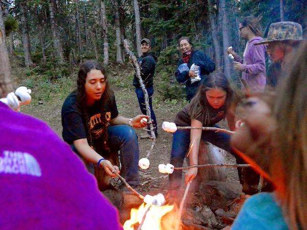 The Long Reach For Smores at Camp