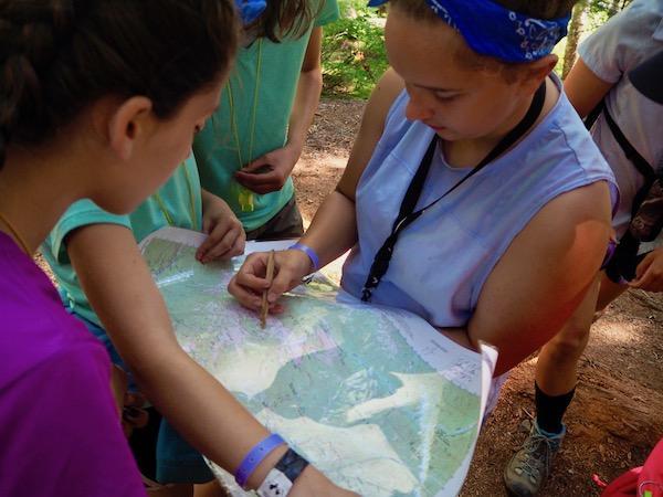 Map reading skill at camp